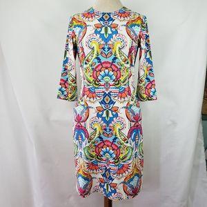J. McLaughlin multi madrid paisley dress, M, NWT